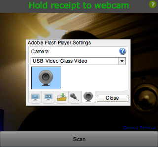 Select webcam screenshot